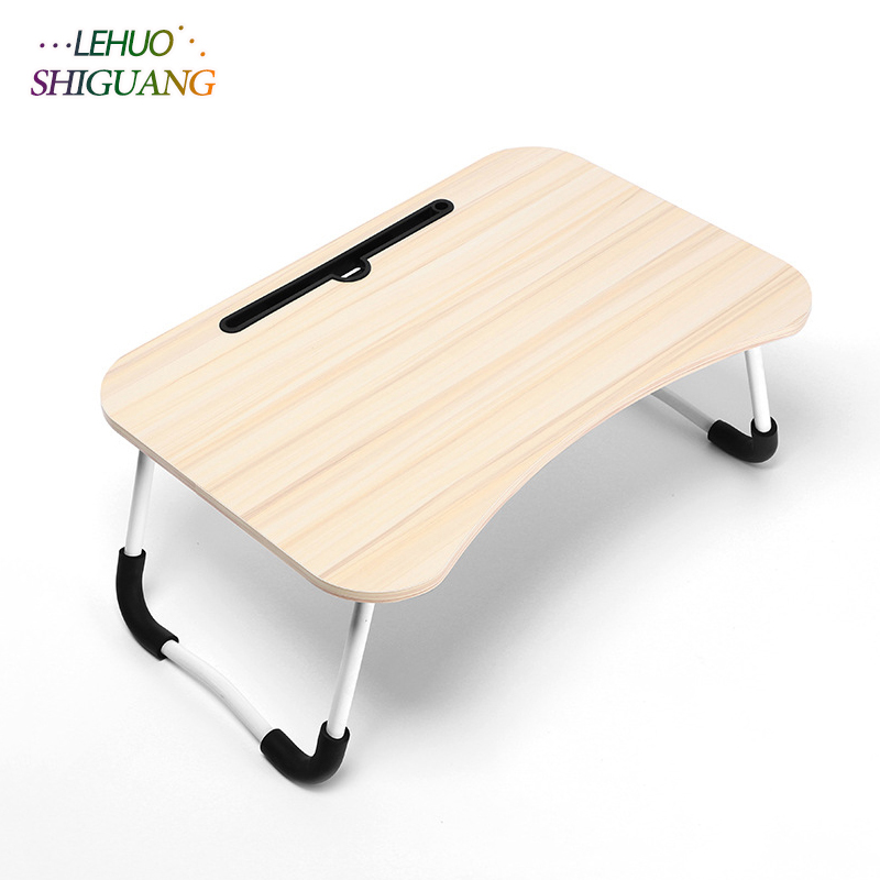 Simple Computer Desk Student Dormitory Bed Desk Folding Table Multifunction Laptop Table Fashion Bedroom Furniture