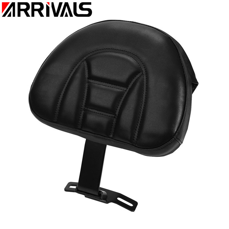 Motorcycle Backrest For Harley Fatboy Heritage Softail 2007-2017 Black Plug-in Adjustable Driver Backrest Kit Rider Backrest