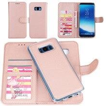 Бизнес бумажник телефон случаях для Samsung Galaxy S8 S7 S6 края плюс Чехол Роскошные Симпатичные кожаный чехол для Samsung Note 8 съемная