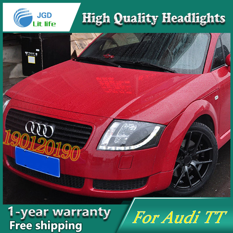 JGD Brand New Styling for Audi TT LED Headlight 1999-2005 Headlight Bi-Xenon Head Lamp LED DRL Car Lights jgd brand new styling for audi a3 led headlight 2008 2012 headlight bi xenon head lamp led drl car lights