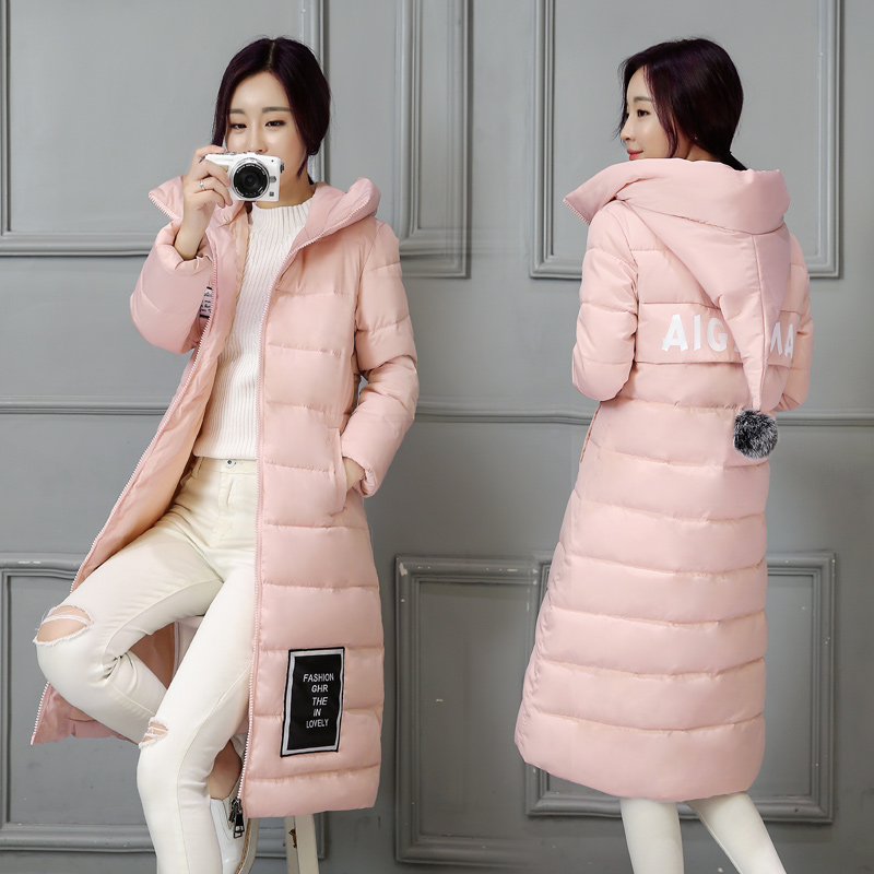 2016 womens winter down jackets and coats women High Quality Warm Female thickening Warm Parka Hood long Over Coat #LX6049 miss fofo womens down coats c l j jackets fashion female parka 3d print oil painting flower long outwear women s down jackets