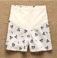 2016 cortocircuitos de maternidad de verano de algodón 100% del patrón de Mickey vientre Prop cortos embarazo carácter cortocircuitos ocasionales