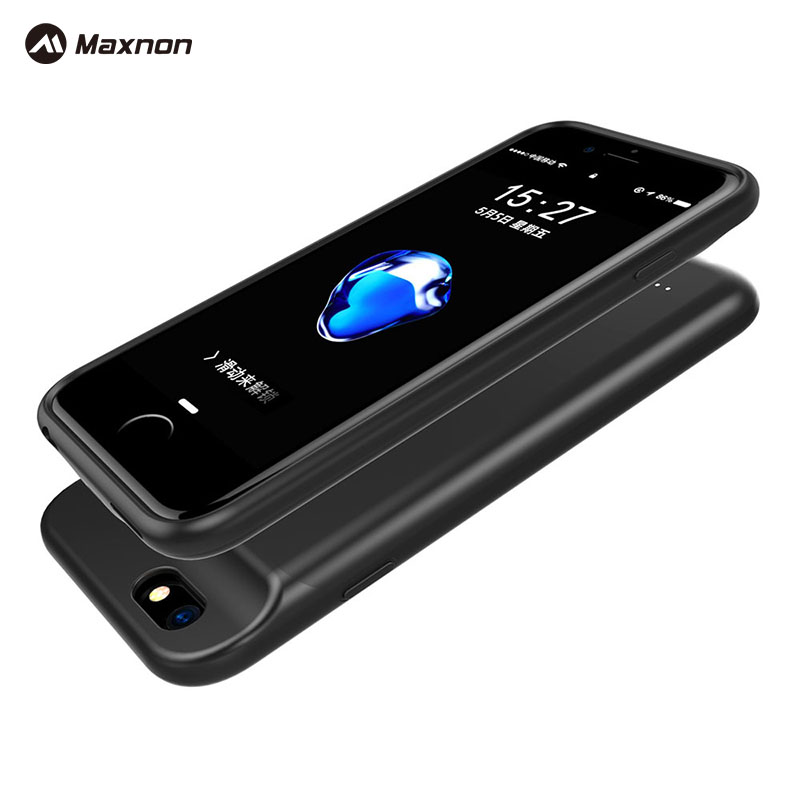 MAXNON Wireless <font><b>3000mAh</b></font> Back Clip Battery Charger Case Power Bank For iPhone 6/6s Mobile <font><b>Phone</b></font> Holder Function Power Case