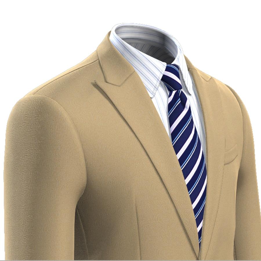 Bespoke Doppelkragen Smoking Für Männer Schwarz Bräutigam Anzug Männer Hochzeitsanzüge Männer Blazer Designs Slim Fit BüGeln Nicht Herrenbekleidung & Zubehör