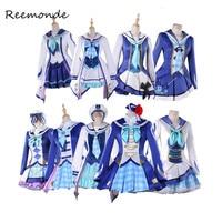 Anime LoveLive Sunshine Cosplay Costumes Love Live Cosplay Aqours OP2 In Women Girl Uniform Takami Chika Tsushima Yoshiko Ruby