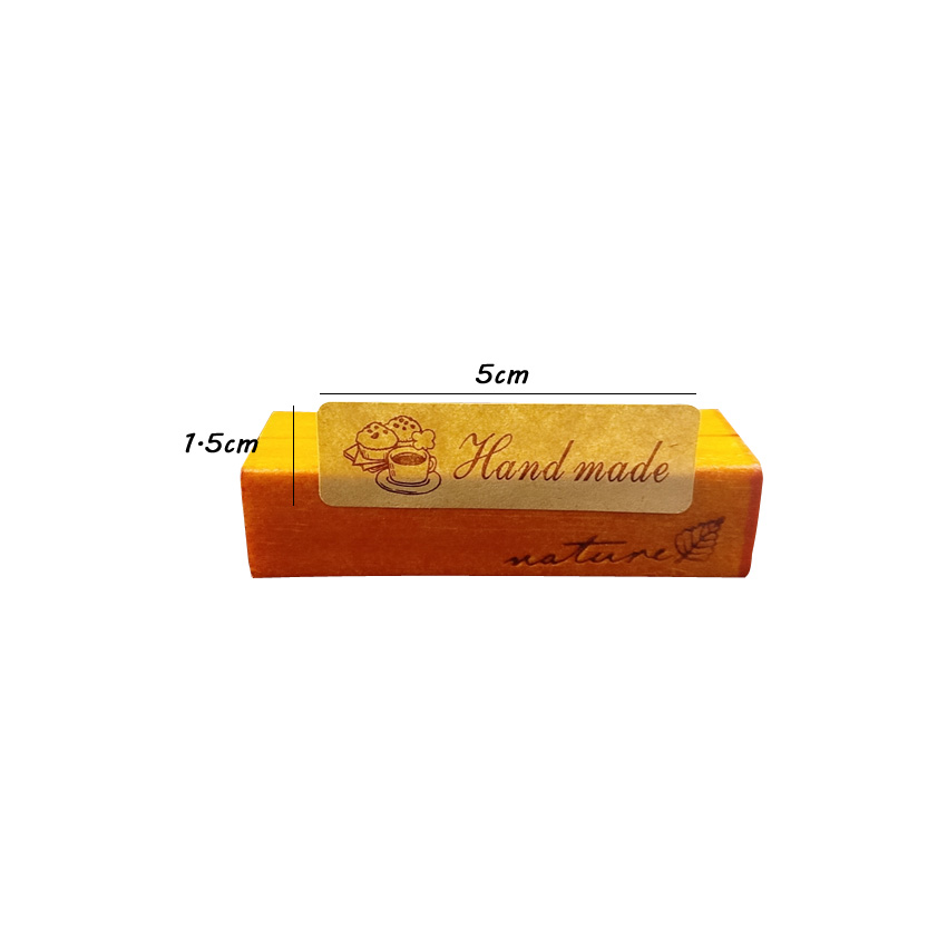Купить с кэшбэком 120pcs/lot 'hand Made' Lovely Kraft Paper Sealing Sticker Handmade Product Gift Sealing Labels DIY Gifts Scrapbooking Sticker