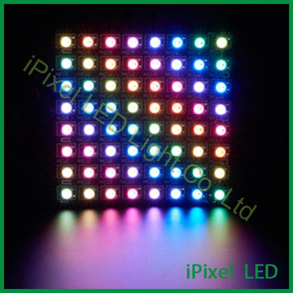 Flexível RGB LED Pixel WS2812B Painel SMD 5050 Pixels Matriz Levou Placa de Exposição