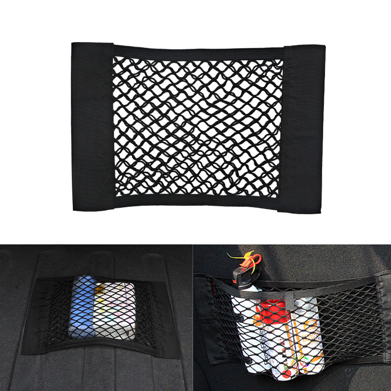40 X 25cm Universal Auto Car Seat Back Storage Bag Mesh Back Trunk Organizer Holder Auto Net Mesh Pocket Car Accessories