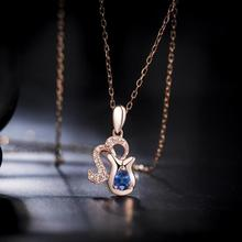 Everoyal Trendy 925 Sterling Silver Necklaces For Women Accessories Vintage Lady Zodiac Pendant Necklace Girls Choker Jewelry