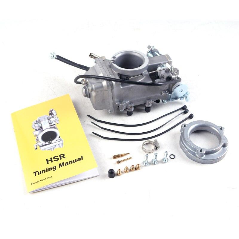 Carburador da motocicleta Para Substituir Modelo Carburador HSR 42 45 48mm Para FL FLH HARLEY FLHRS VRSC Sportsters Q