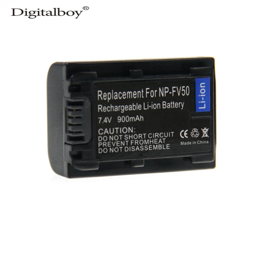 DigitalBoy 900mAh NP-FV50 NPFV50 NP FV50 Rechargeable Camera Battery For SONY FV50 HDR DCR DVD308 508 405 505 203 103