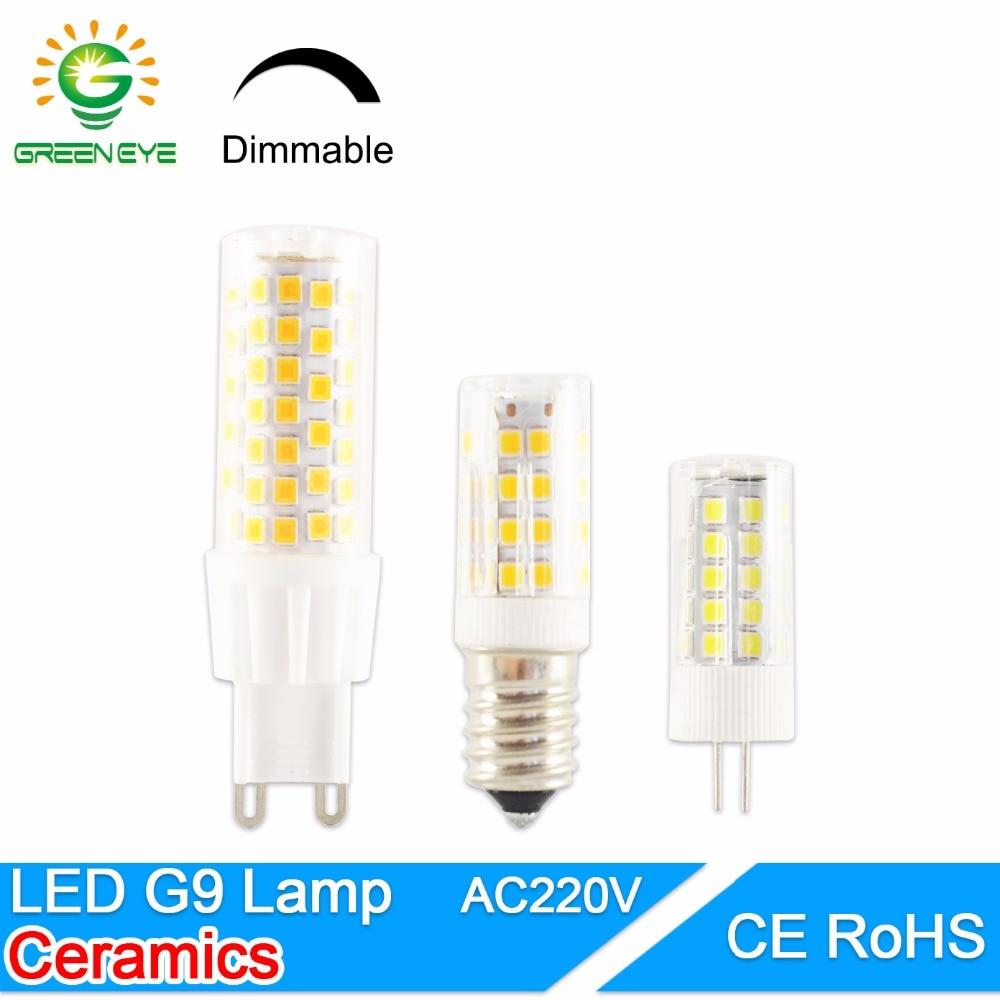 GreenEye G4 Led Lamp Ceramic G9 LED Bulb E14 220V 5W 7W 9W 12W 2835 SMD LED Dimmable Lamps 360 Degree Angle Led Spotlight Lamp