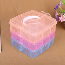 3 Layers Grid Multifunctional Detachable Jewelry Storage Box