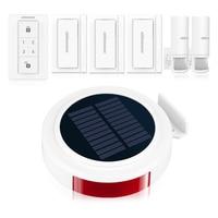Koochuwah Solar Motion Sensor Alarm GSM Alarm Home Security System SMS Auto Call Alarm for Garage/Home Smartphone Remote Control