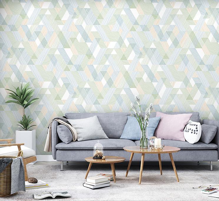 Купить с кэшбэком Modern Geometric Square Lattice Wallpaper Bedroom Living Room Decoration Home Wall Paper Roll