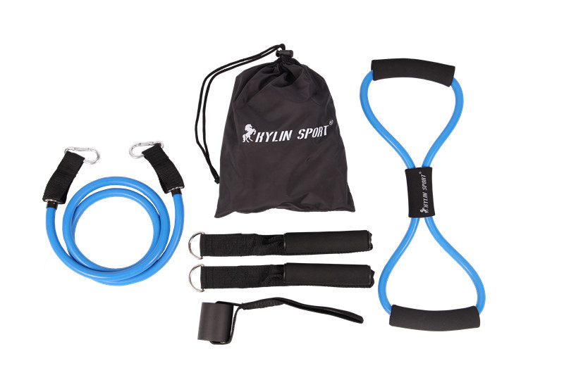6pcs muškarci otpor bendova elastična vježba set fitness tube yoga - Fitness i bodybuilding - Foto 2