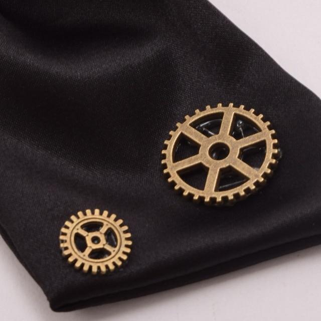 Стимпанк галстук бант с шестеренками 4