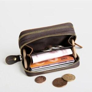 Image 5 - CICICUFF ของแท้หนัง Vintage หนังกระเป๋าสตางค์ 6 กุญแจผู้ถือ Organizer แม่บ้านกระเป๋าผู้ชาย