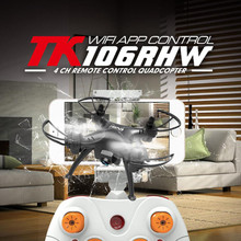 New RC Helicopter 106RHW 2.4G 6 axis Mini WIFI FPV Drone Quadcopter Brake Trace Mode WIFI real time transimition with HD camera