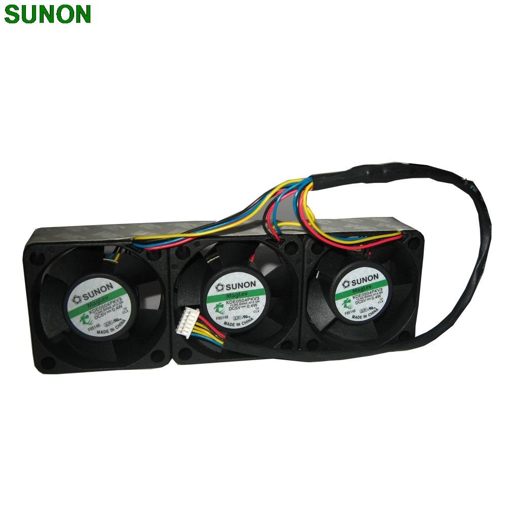 SUNON KDE0504PKV3 5V 4CM cm magnetic bearings 4020 DC cooling fan sunon dhl free shipping 4020 gm1204pkvx 8a 4cm 12v 2 4w 2wire server cooling fan
