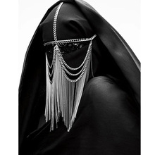 3 Color Women Head Chain Halloween Masquerade Headwear Jewelry Punk Style Head Chain Jewelry Alloy Headwear Jewellery For Women punk style alloy chain embellished necklace for women