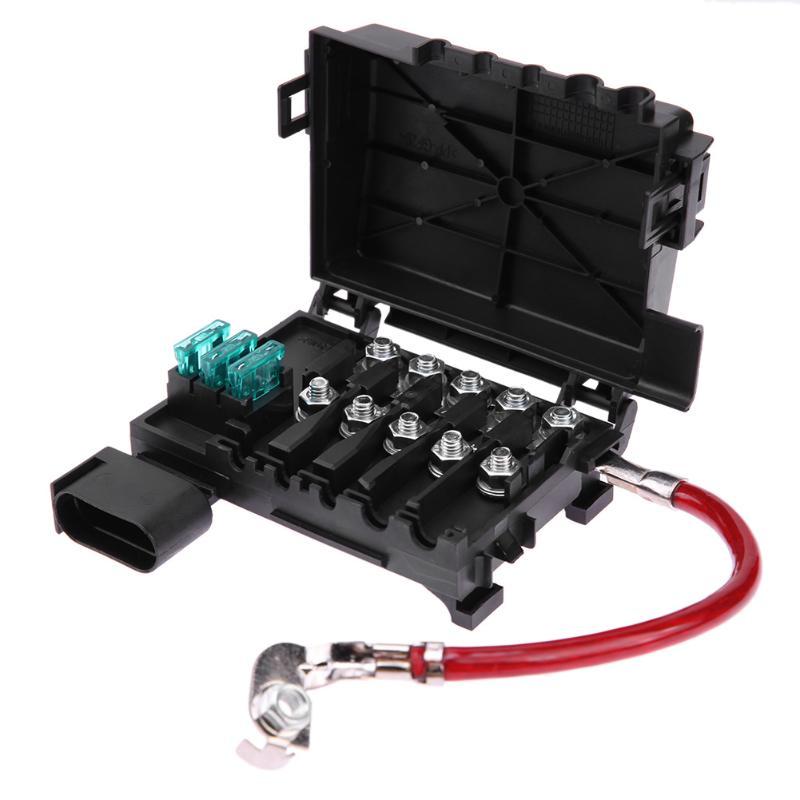 VODOOL Car Fuse Box Battery Terminal Accessory For Volkswagen Bora Golf Mk4 98-05 Auto Accessories Battery Fuse Box Car Styling