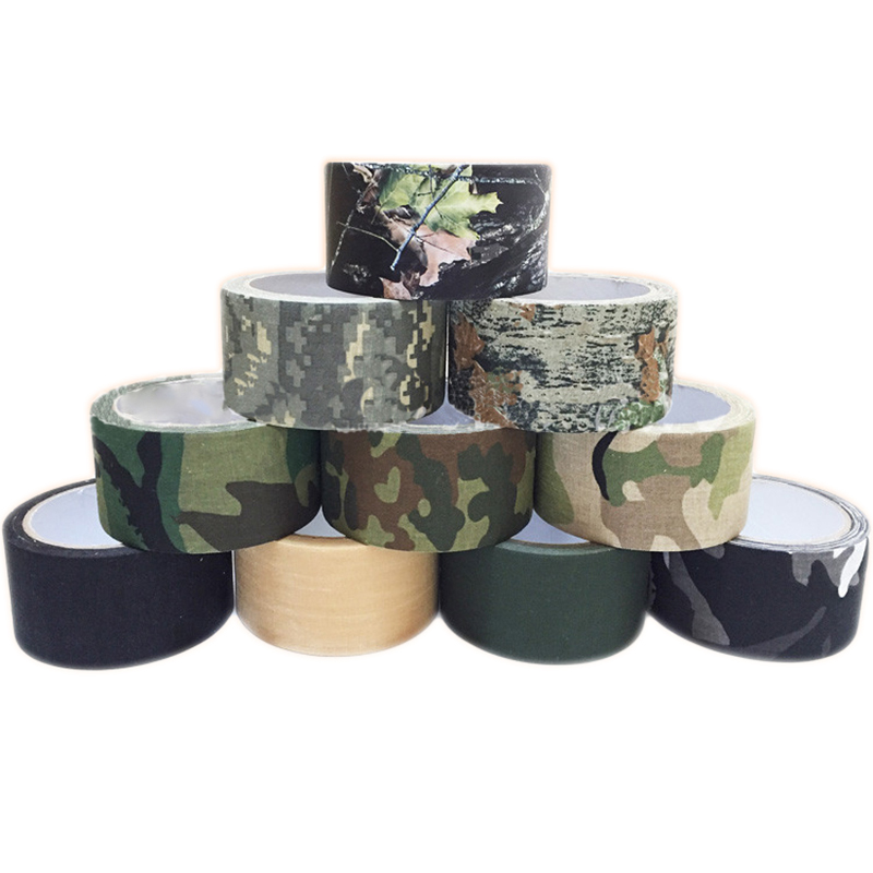 1Pc Outdoor Camo Gun Hunting Waterproof Camping Camouflage Stealth Duct TapBLUS
