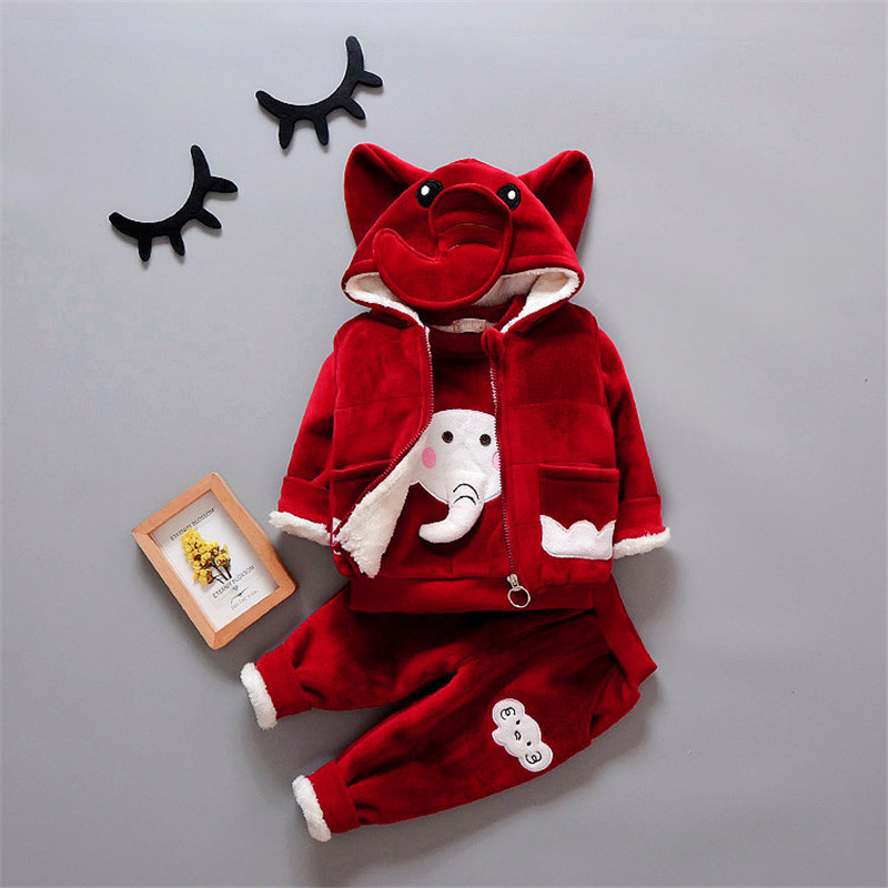 2018 Winter Children Clothing Set Toddler Baby Jacket For Girls Boys Winter Clothes Sets Warm Thick Infant Baby Coats Kids Suits baby boys fashion suits 2017 winter fleece coats rabbit tops pants kids outfits 2pcs set suits children s warm clothing sherry