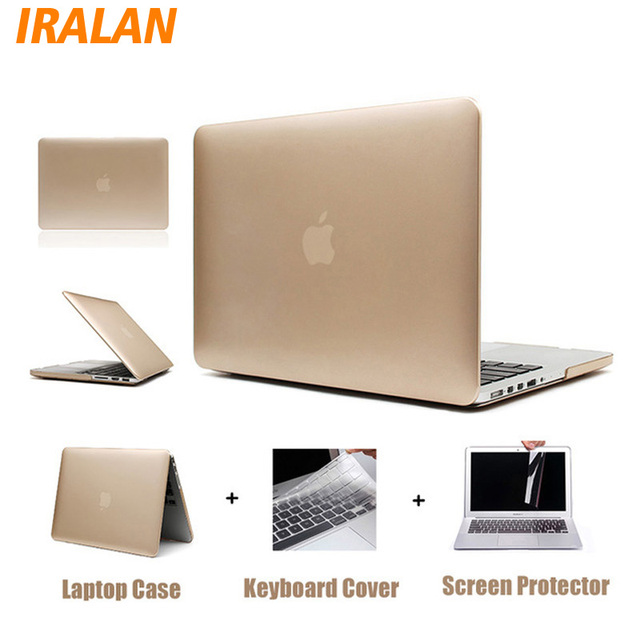 huge discount c2958 0c0cf US $10.39 20% OFF|2017 hot Rose Gold Matte Metal Color Laptop Hard Case for  Macbook Air 13 12 11 New Mac book Pro 13 15 With Retina Display Cover-in ...