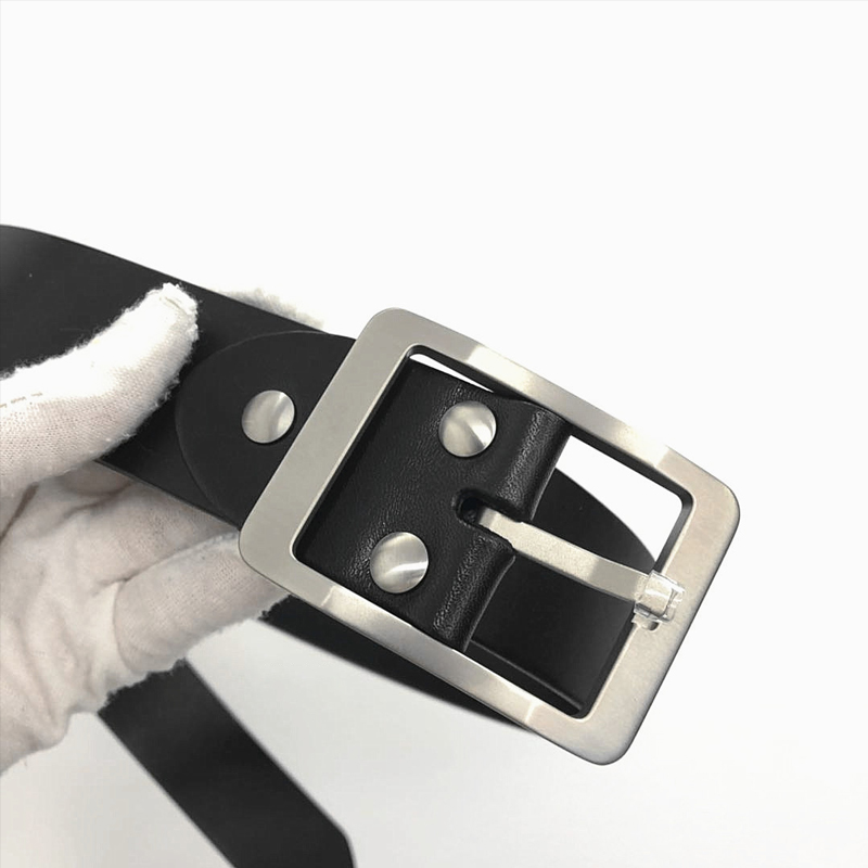 Made In China Made In Titanium Buckle Belt Belt 38 Mm ~ 39 Mm In Width Genuine Leather Belt Allergy To Metal