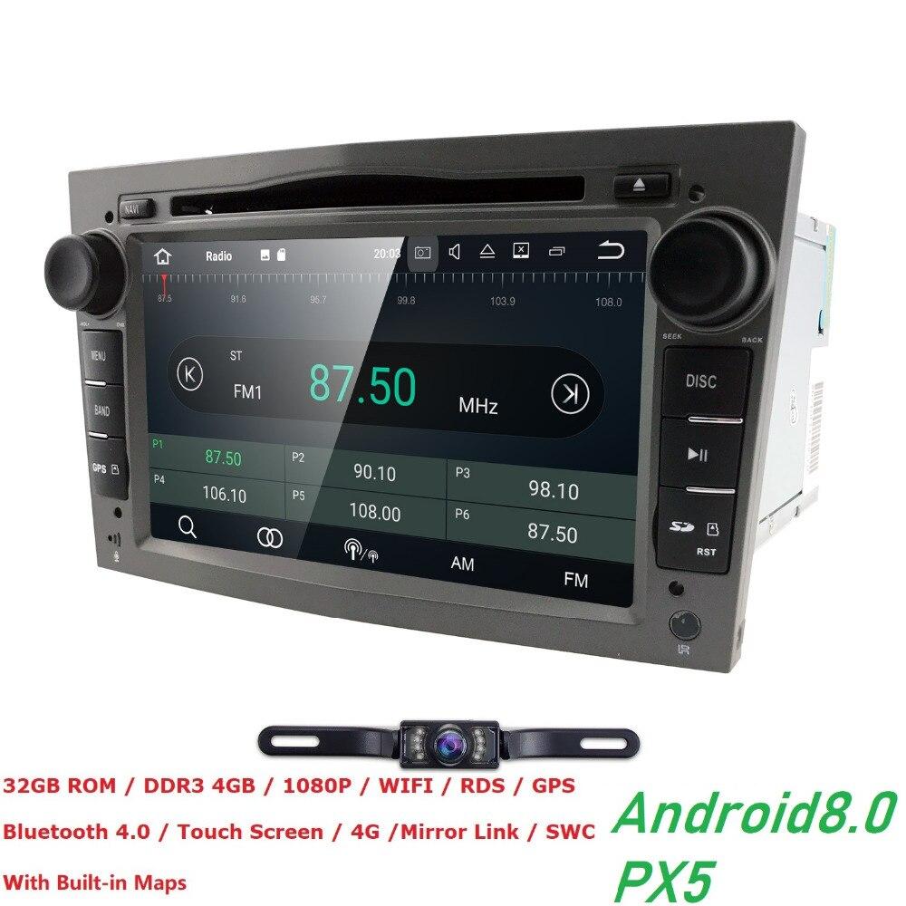 2 din Android 8,0 автомобиль DVD мультимедийный плеер подходят Opel Vectra C b Corsa D C Astra H G J zafira b k Meriva Antara радио навигации