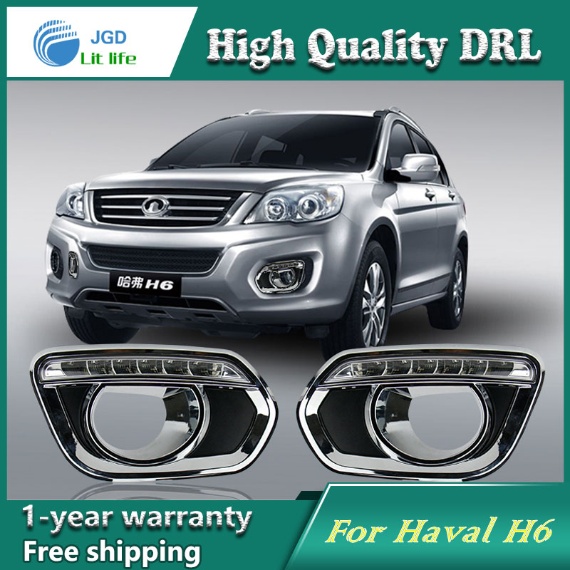 Free shipping !12V 6000k LED DRL Daytime running light case for Haval H6 2010 2011 2012 fog lamp frame Fog light Car styling недорого