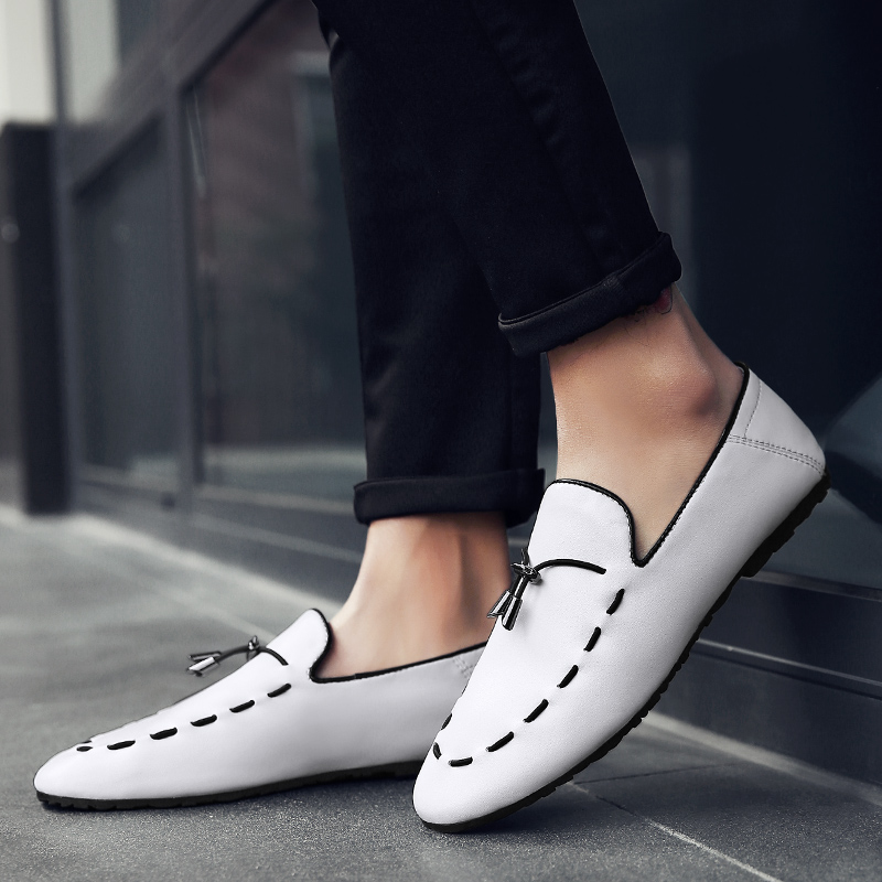 AMAGINMNI New arrival Low price Mens Breathable High Quality Casual Shoes Leather Casual Shoes Slip On men Fashion Flats Loafers kids sneaker girls dance shoes pu baby princess flat flowers single shoes spring summer autumn children student leather shoes