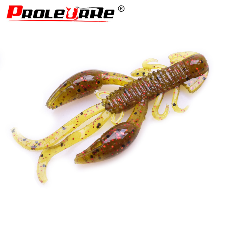 5Pcs/lot Soft Bait Silicone Lures Worm 5cm 2g Fishing Lures Attractive Shrimp Odor Salt Wobbler Jig Swivel Bass Fishing Tackle