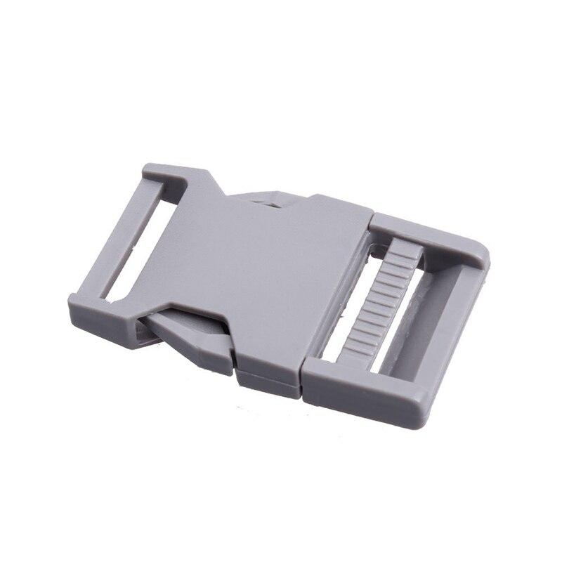Лямки швейные инструменты собачьи ремни пряжки двойные регулируемые Крючки для рюкзака Высокое качество 1 шт. 25 мм популярная пластиковая пряжка безопасности - Цвет: Gray