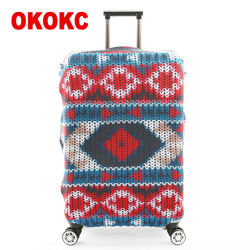 OKOKC Stripe Suitcase Elastic Dust Luggage Protective Cover Suitable18-32 Inch Password Box Trolley Case,Travel Accessories цена