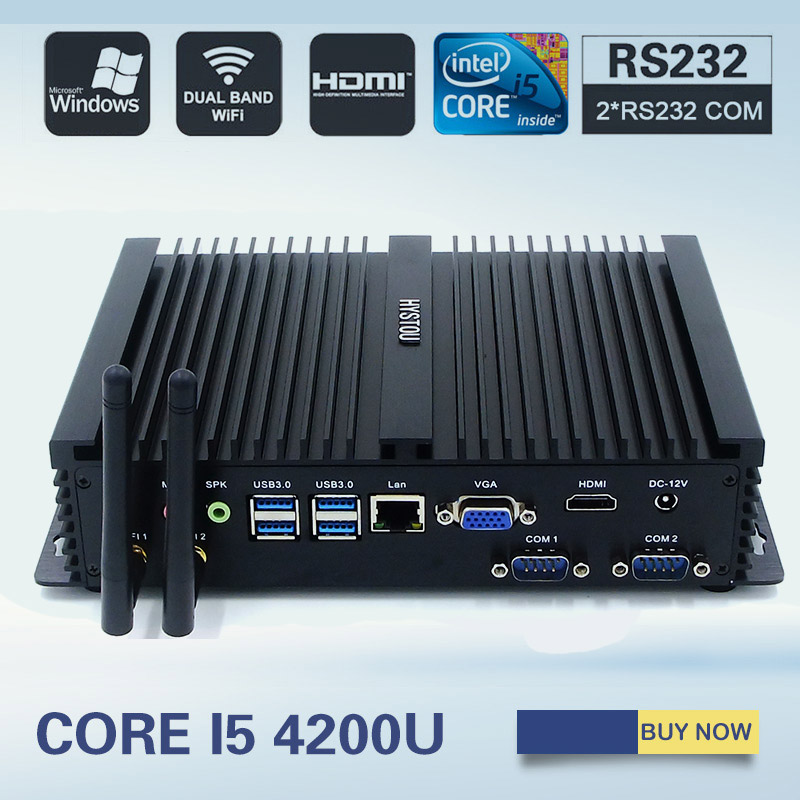 hystou mini computer fanless mini pc windows 7 core i5. Black Bedroom Furniture Sets. Home Design Ideas