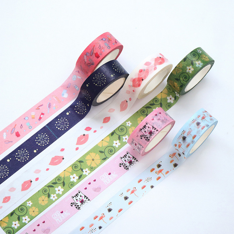 1.5cm*7m SUM MER animal washi tape DIY decorative scrapbook planner masking tape adhesive tape stationery school supplies