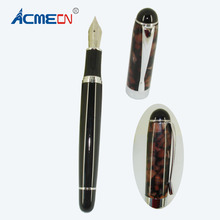 цена Luxury Metal & Acrylic Liquid ink Pen Office and Business Writing Stationery Gifts for Men High End Iridium Point Fountain Pens онлайн в 2017 году