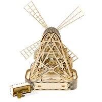 Колесо обозрения строительные блоки украшения ручной 3D древесины механический привод собраны модели собраны игрушки креативный подарок
