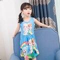 Summer Nightgowns Girl Sleeping Comfortable 2019 New Children's Sleepping Dress Cartoon Princess Nightdress Girls Sleepwear