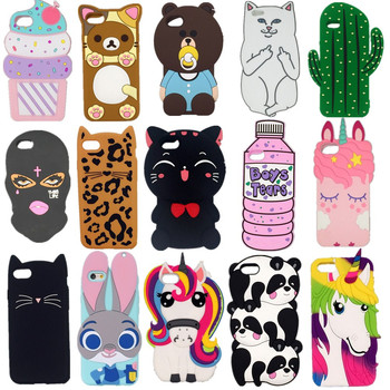 3D Cartoon pocket cat Baby bear rabbit fashionable soft silicon Phone cover For iPhone X/4 4S/5 5S/SE/5C/6/7/8/plus Phone cove