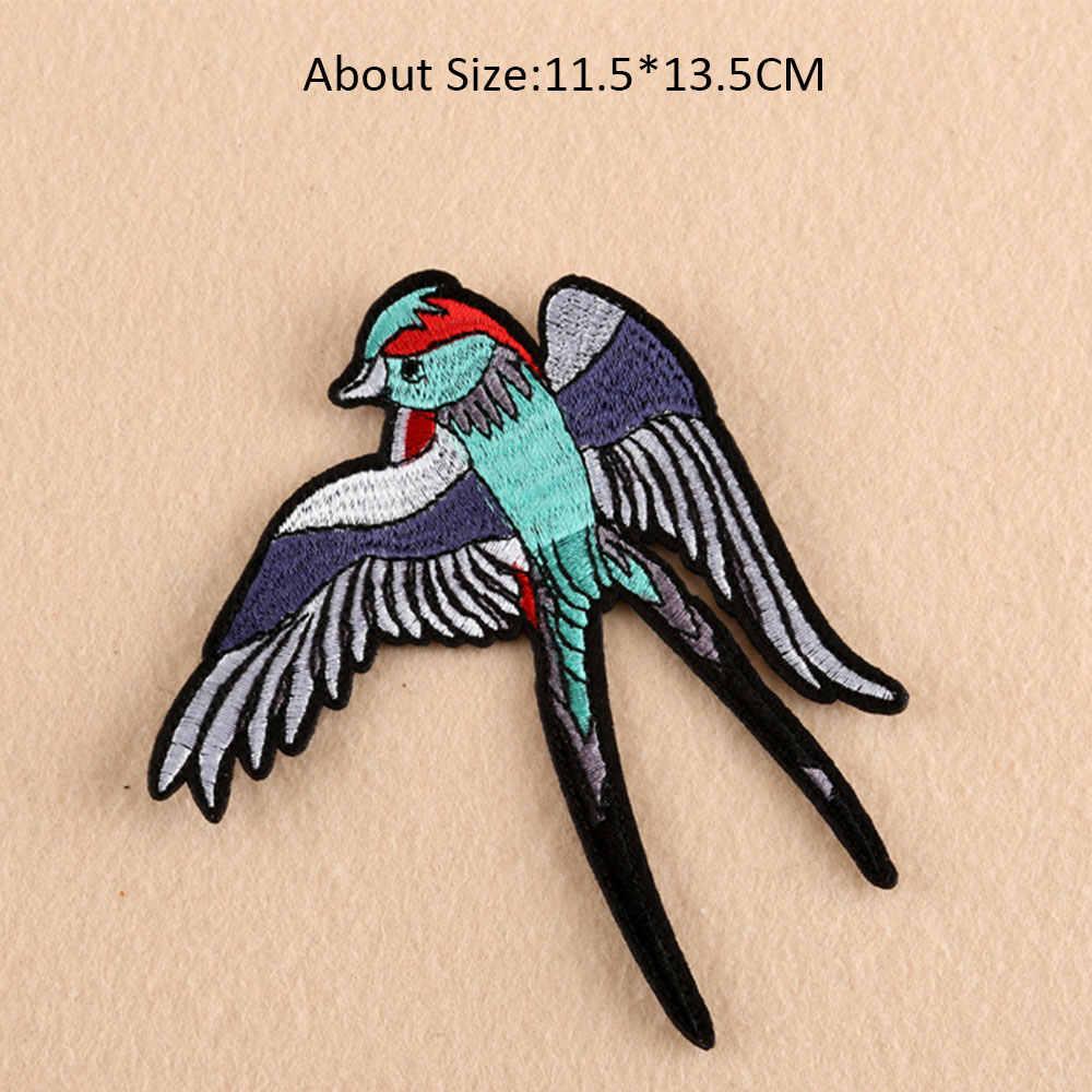 Aves Vestidos de Patch Bordado Ferro em Patches para Roupas DIY Acessório