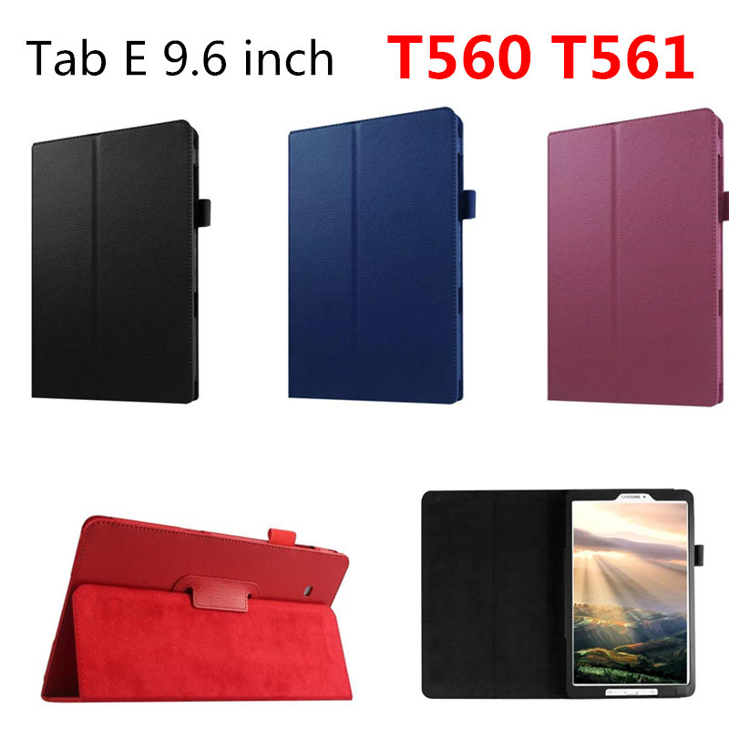 promo code 7c4d4 202b1 PU Leather Case Stand Cover For Samsung Galaxy Tab E 9.6