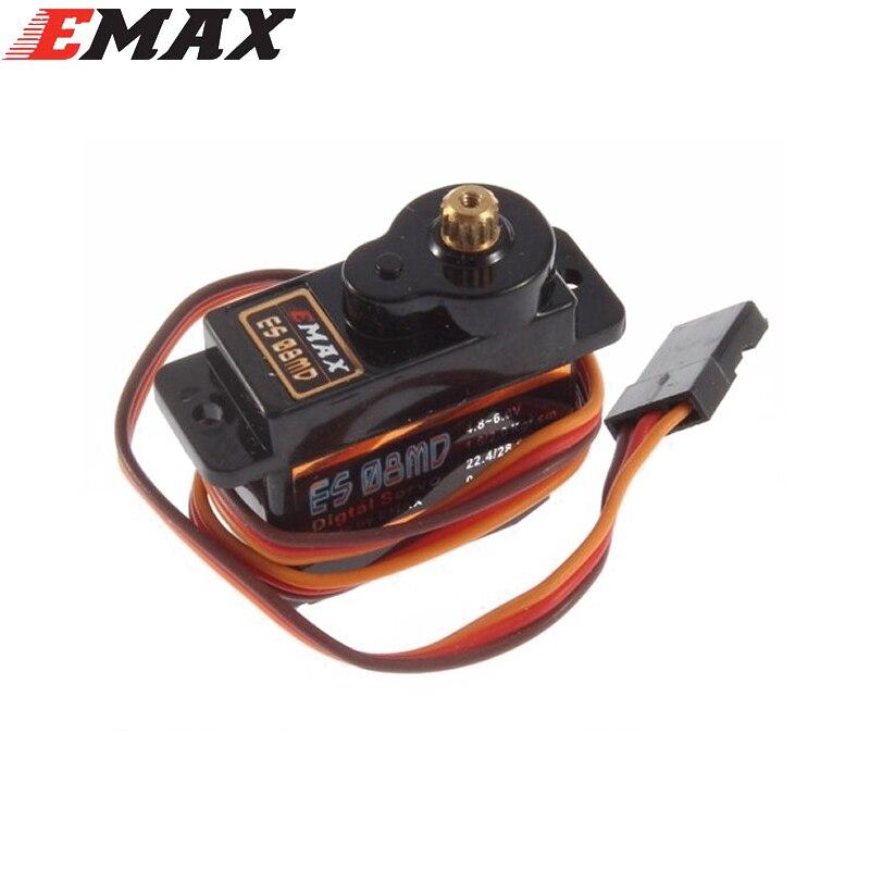1 unids Emax ES08MD II Metal Gear servo digital hasta sg90 ES08A ES08MA MG90S trex 450