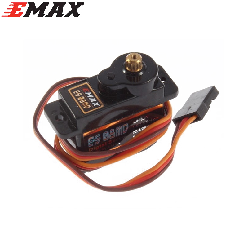 1pcs EMAX ES08MD II Metal GEAR Digital Servo up sg90 ES08A ES08MA MG90S TREX 450 1pc original emax es08ma ii mini metal gear analog servo 12g 1 8kg high speed upgrade es08ma