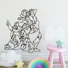 Dwarfs Cartoon Wall Decal Cute Film Snow White Stickers For Kids Rooms Seven Girls Home Decor Nursery DIYSYY810