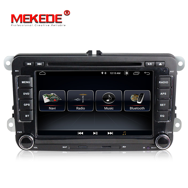 Free shipping Android8 1 7inch 2din Car GPS DVD player for Skoda Octavia Fabia Rapid Yeti