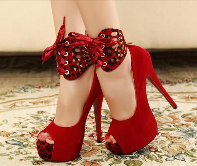 Aliexpress.com : Buy 2014 Fashion Sexy Red Bottom Peep Toe ...