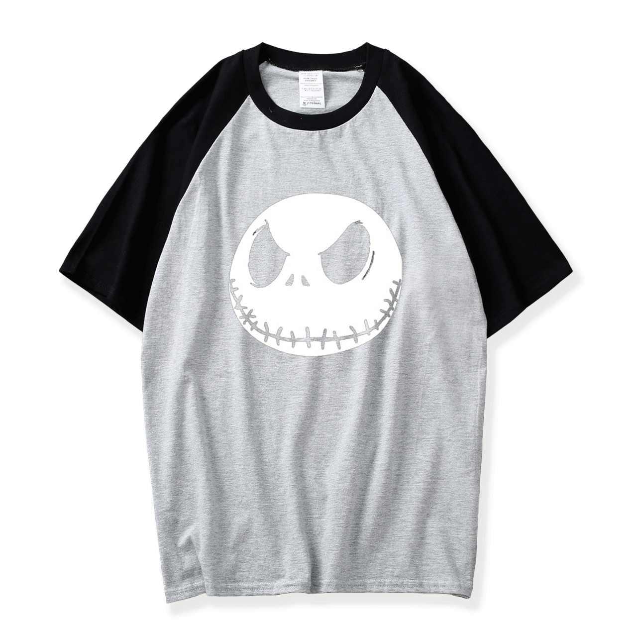 Nightmare Before Christmas แจ็ค Skellington Mens Tshirt ฟักทองฮาโลวีน King เสื้อยืดฤดูร้อน Hip Hop ชายเสื้อ